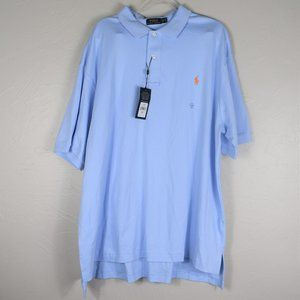 NWT Polo Ralph Lauren Men's Blue Polo Shirt 2XB
